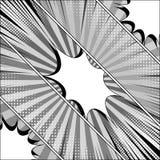 Molde diagonal monocromático cômico Foto de Stock Royalty Free