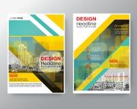 Molde diagonal verde abstrato da disposição de projeto do cartaz do inseto da tampa do informe anual do folheto no tamanho A4 ilustração stock