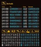 Molde digital realístico do aeroporto da placa do diodo emissor de luz Vetor ilustração royalty free