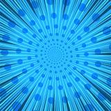 Molde dinâmico vazio azul da página cômica Fotografia de Stock Royalty Free