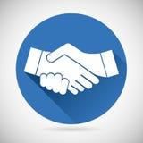 Molde do ícone do aperto de mão do símbolo da parceria Imagens de Stock Royalty Free