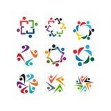 Molde do ícone do logotipo da organização de povos da comunidade ilustração royalty free