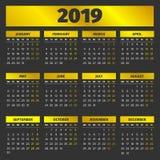 Molde 2019 do calendário Foto de Stock Royalty Free