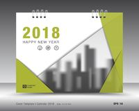 Molde 2018 do calendário da tampa Disposição do Livro Verde Projeto do inseto do folheto do negócio Anúncio livreto ilustração do vetor