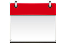 Molde do calendário Imagem de Stock Royalty Free