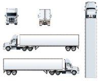 Molde do caminhão do vetor isolado no branco ilustração royalty free