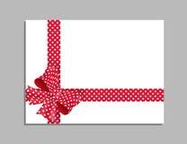Molde do cartão com curva vermelha Vetor Foto de Stock Royalty Free