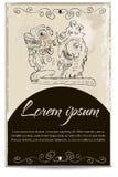 Molde do cartão com um dragão. Ilustração Royalty Free