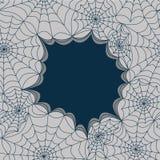 Molde do cartão com a Web de aranhas, sem emenda Vetor ilustração do vetor