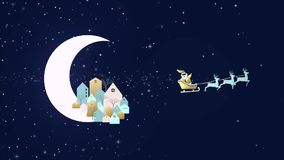 Molde do cartão da cidade do Natal e do ano novo vídeos de arquivo