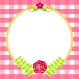 Molde do cartão da flor ilustração royalty free