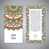 Molde do cartão da mandala Imagem de Stock Royalty Free