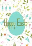 Molde do cartão de Easter Fotografia de Stock