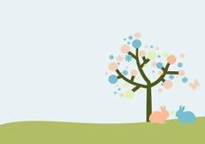 Molde do cartão de Easter com coelhos Imagem de Stock