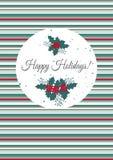 Molde do cartão de Natal Imagens de Stock