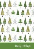 Molde do cartão de Natal Foto de Stock Royalty Free