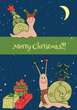 Molde do cartão de Natal Fotos de Stock