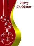 Molde do cartão de Natal ilustração stock