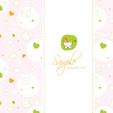 Molde do cartão do chuveiro de bebê Foto de Stock