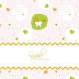 Molde do cartão do chuveiro de bebê Fotos de Stock Royalty Free