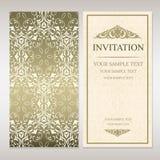 Molde do cartão do convite Fotografia de Stock Royalty Free