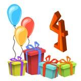 Molde do cartão do convite da festa de anos Foto de Stock Royalty Free