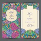 Molde do cartão do convite do casamento Fotos de Stock Royalty Free