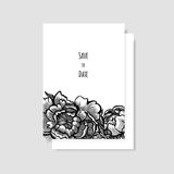 Molde do cartão do convite do casamento ilustração royalty free