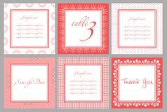 Molde do cartão do convite para o casamento Fotos de Stock