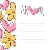 Molde do cartão do dia de mãe Imagem de Stock