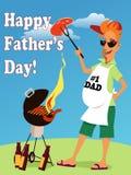 Molde do cartão do dia de pai Imagens de Stock Royalty Free