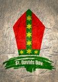 Molde do cartão do dia do St Davids ilustração royalty free
