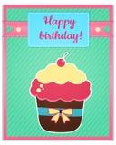 Molde do cartão do feliz aniversario Imagens de Stock Royalty Free