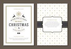 Molde do cartão do Natal ou do projeto do cartaz Fotos de Stock