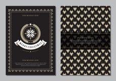 Molde do cartão do Natal ou do projeto do cartaz Foto de Stock