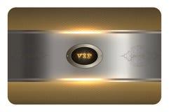 Molde do cartão do ouro Foto de Stock Royalty Free