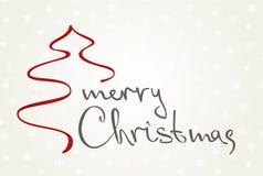 Molde do cartão do Natal e do ano novo Ilustração do vetor Fotos de Stock Royalty Free