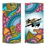 Molde do cartão para o designer gráfico ou a agência criativa, ilustração do vetor Imagem de Stock Royalty Free