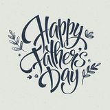 Molde do cartão para o pai Day Vetor Imagem de Stock Royalty Free