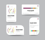 Molde do cartão, projeto da disposição de cartão, illu do vetor Fotos de Stock