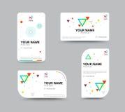 Molde do cartão, projeto da disposição de cartão, illu do vetor Imagens de Stock