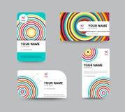 Molde do cartão, projeto da disposição de cartão, illu do vetor Foto de Stock