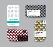 Molde do cartão, projeto da disposição de cartão, illu do vetor Imagens de Stock Royalty Free