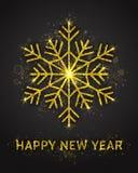 Molde do cartão do vetor do ano novo feliz Foto de Stock Royalty Free