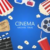 Molde do cartaz cinematográfico Foto de Stock Royalty Free