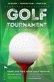 Molde do cartaz do competiam do golfe com texto da amostra ilustração do vetor