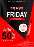 Molde do cartaz da venda de Black Friday Bandeira para anunciar Fotografia de Stock Royalty Free