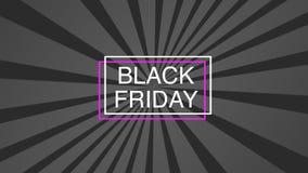Molde do cartaz da venda de Black Friday no fundo cor-de-rosa ilustração royalty free