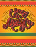Molde do cartaz de Cinco De Mayo ilustração do vetor