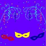 Molde do cartaz do carnaval com ramos decorativos ilustração do vetor